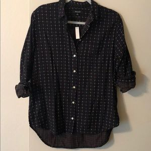 NWT madewell oversized button down